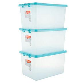 禧天龙 塑料收纳箱整理箱 40L*3个 99元包邮
