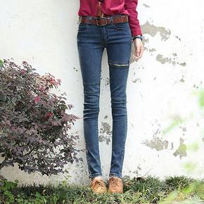 萨纳 秋季女士修身显瘦小脚牛仔裤 29元包邮