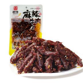 好牛 麻辣牛肉干 烧烤味 100g 折4.9元(99-50)