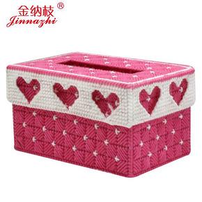 金纳枝 3D十字绣立体抽纸盒 5.8元包邮
