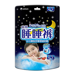妈咪宝贝 婴儿裤型纸尿裤 XL男3片 12.8元