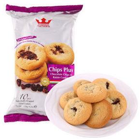 马来西亚进口 TATAWA 葡萄干巧克力饼干 120g 折3.9元(7.5,99-50)