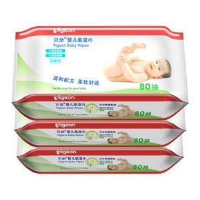 贝亲 婴儿柔湿巾 80片*3包 27.9元