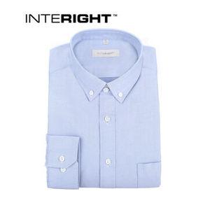 INTERIGHT 牛津纺布男士长袖衬衫 牛仔蓝 89元