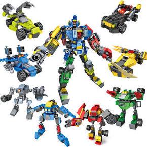 积高 变形机器人八合一积木 58元