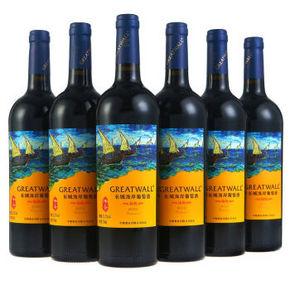长城 海岸传奇 扬帆解百纳干红葡萄酒 750ml*6瓶 折144元(288,买2免1)