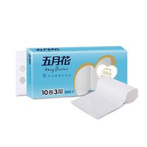 五月花 纯厚经典无芯卷纸卫生纸 80g*3层*10卷 9.9元