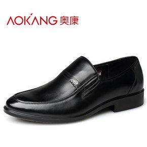 奥康 秋季男子商务真皮皮鞋 99元包邮(199-100券)