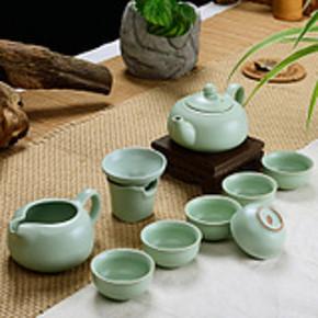 心艺德 青瓷汝窑整套茶具 10件套装 券后29.9元包邮