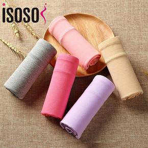 isosos 纯棉中腰女士内裤 4条盒装 15.9元包邮(20.9-5券)