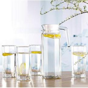 青苹果 玻璃凉水壶 五件套 25.9包邮