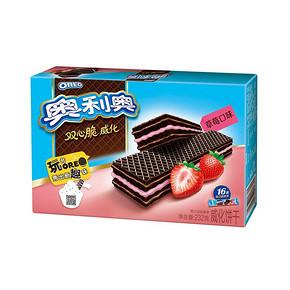 奥利奥 双心脆威化饼干 (草莓口味) 232g 共16条装 4.7元