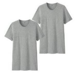 优衣库 男装SUPIMA COTTON圆领短袖T恤 2件装 59元