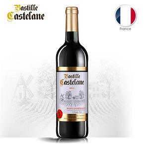 法国进口 巴士底城堡 干红葡萄酒 750ml 送酒刀 19.9元
