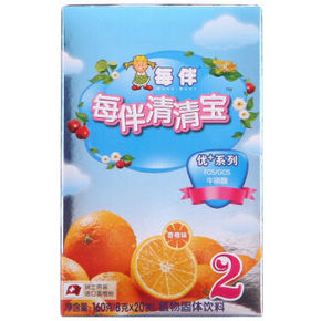 每伴清清宝优+系列盒装2段 香橙味 8g*20包 折21.6元(27,2件8折)
