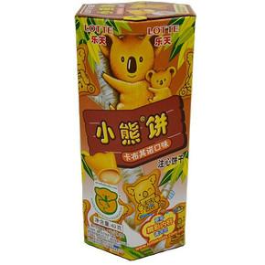 乐天 卡布其诺小熊饼 49g 0.9元(5.9-5券)