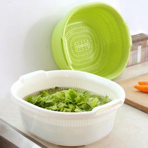 双层沥水篮 洗菜盆 7.9元
