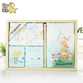 童泰 新生儿礼盒 6件套+凑单 49.9元包邮(99.9-50券)