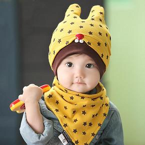 可爱宝贝# 熊朵 婴儿套头纯棉帽子 7元包邮(17-10券)