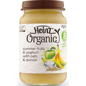 Heinz 亨氏 婴幼儿辅食 有机水果乳酪燕麦泥 170g 11.8元(9.9+1.9)