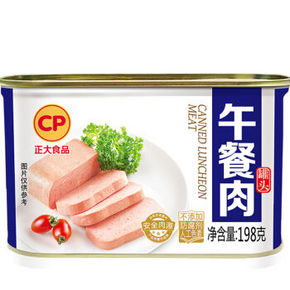 CP 正大食品 原味午餐肉罐头 198g 折8.1元(10.8,2件75折)