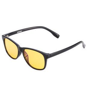 庞巴迪挑战者 中性款黑色镜框黄色镜片护目镜 50元