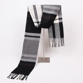 禾图 英伦格子条纹长款仿羊绒披肩两用围巾 券后8.8元包邮