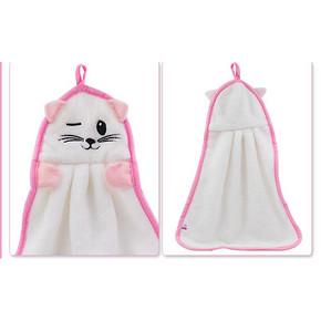 白猫 珊瑚绒擦手巾 1.9元