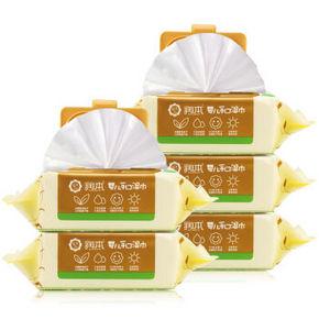 润本 婴儿加厚护肤柔湿巾纸 80抽*5包 29元