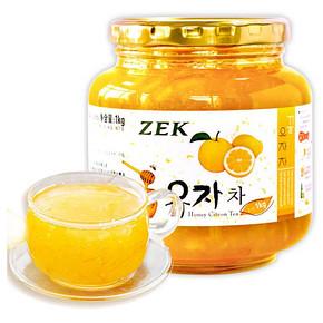ZEK 蜂蜜柚子茶 果肉饮料 1kg 26.9元(31.9-5券)
