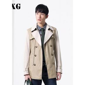 GXG 男装经典修身长款风衣外套 89元包邮(99-10券)