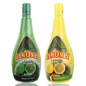 Limonli 甘蒂粒檬 柠檬汁青柠汁组合装 200ml*2瓶 14.9元