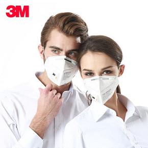 3M 防尘防雾霾防PM2.5一次性透气呼吸阀口罩 券后5.1元包邮