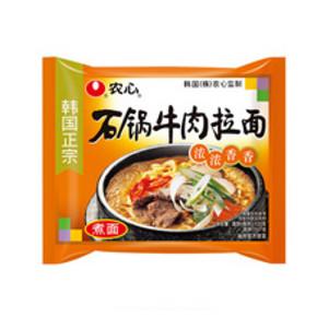 农心 石锅牛肉拉面方便面 120g*5包 11.9元(16.9-5元券)