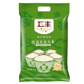 五丰优选 东北大米 5kg 22.9元(27.9-5券)