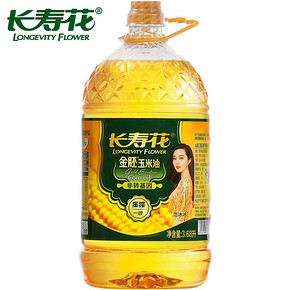 长寿花 金胚玉米油 3.68L 折52.5元(104.9,买2付1)
