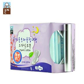 韩国进口 恩芝 超薄夜用卫生巾 285mm*8片 折9.5元(19,买2付1)