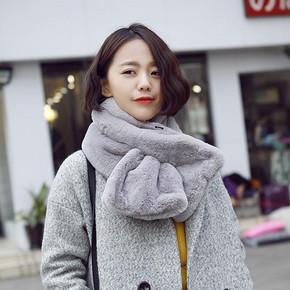 卡兰薇 韩国秋冬纯色保暖毛绒围巾 券后9.8元包邮