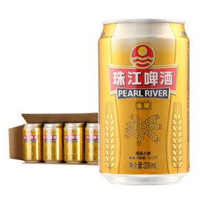 珠江 精品小麦啤酒 10°P 330ml*24听 39元
