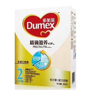 Dumex 多美滋 精确盈养心护 婴儿配方奶粉 2段 400g 39元
