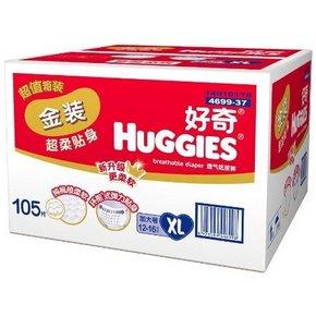 HUGGIES 好奇 金装 超柔贴身纸尿裤 XL105片 187元包邮(188-1)