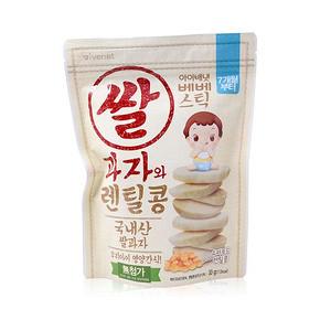 韩国进口 艾唯倪 贝贝大米饼辅食 扁豆味 30g 19.9元