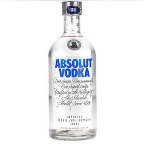 ABSOLUT VODKA 绝对伏特加 原味伏特加酒 700ml 85元(可499-100)