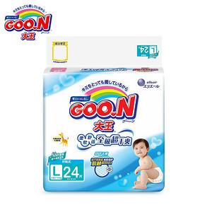 Goo.N 大王 维E系列 环贴式纸尿裤 L24片 折39元(78,2件5折)