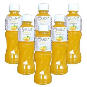 七咔呢 芒果汁饮料 含椰果 300ml*6支 14.9元(19.9-5券)