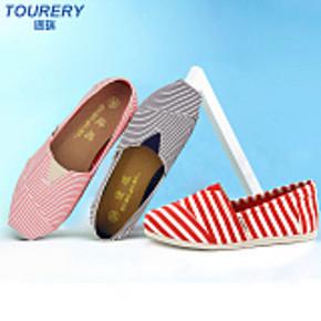 途瑞 女士透气帆布鞋一脚蹬懒人玛丽布鞋 券后19元包邮