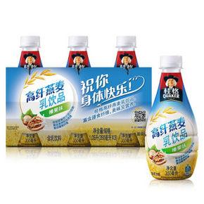 QUAKER 桂格 高纤燕麦乳榛果味 350ml*3瓶 6.6元