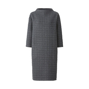 UNIQLO 优衣库 提花连衣裙 7分袖 99元