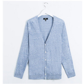 C&A 男式亚麻混纺V领针织衫 109元包邮