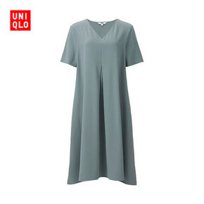 UNIQLO 优衣库 女士花式V领连衣裙 99元包邮